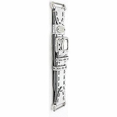 Fendi Selleria 18 mm Genuine Leather Strap Watch Silver Band