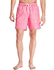 Blue Harbour Grid Checked Quick Dry Swim Shorts