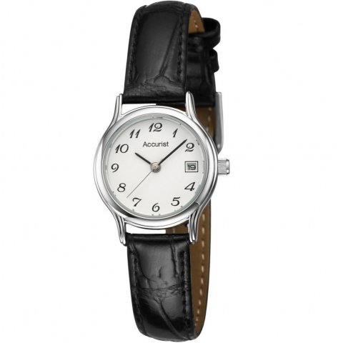 ladies-black-textured-leather-strap-watch-with-white-dial