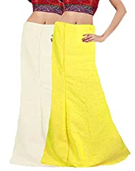 Ramaya Fashion Ladies/Women Saree Inskirt/ Cotton Petticoat combo Pack