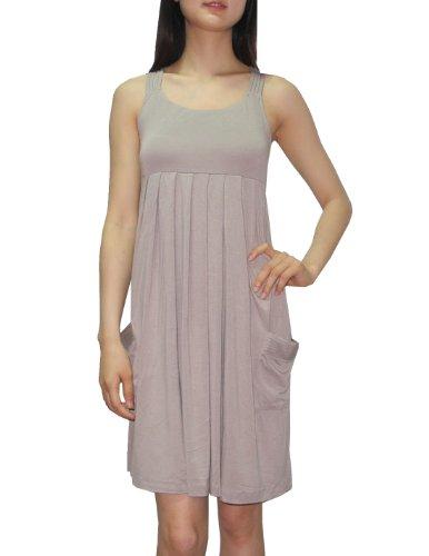 CALVIN KLEIN Womens Scoop Neck Summer Casual Tank Dress 4/S Tan