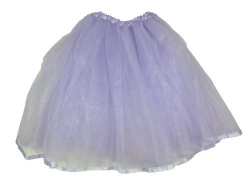 Teen & Adult Ribbon Lined Dance Or Dress Up Tutu (Lavender) front-692778