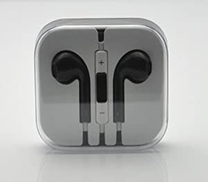 RainbowMOBO Stereo Earpods Earbuds Earphones Headphone Headset with Mic and Remote for Apple iPad3/2/1 iPhone 5 / 4S / 4G / 3GS / 3G Ipod Touch 5 Ipod 5th Ipod Nano 7 BLACK