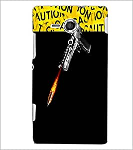 PrintDhaba GUN D-3734 Back Case Cover for SONY XPERIA SP (Multi-Coloured)