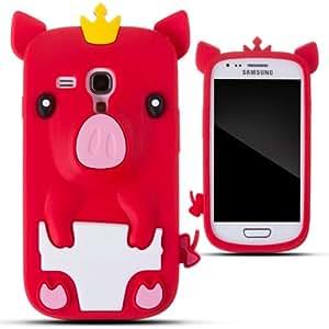 Amazon.com: LliVEER Red Samsung i8190 S3 Mini New Silicone Crown Pig
