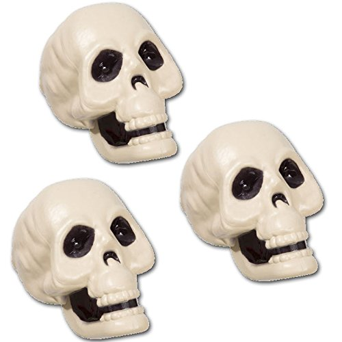 3 Piece Halloween Skeleton Skulls for Haunted Houses & Party Yard Decoration