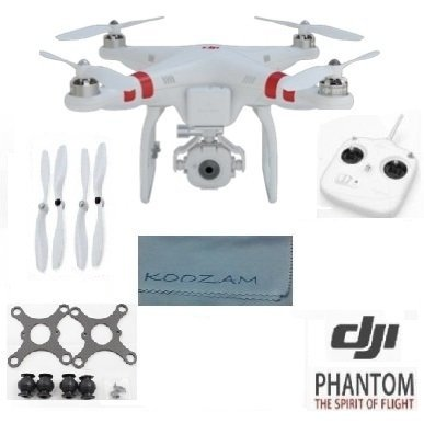 Dji Phantom Fc40 Quadcopter With Fpv Camera And Transmitter (Can Also Mount Gopro Camera Hero 1 2 3 Hero3+ Silver Black) + Dji Self Tightening Extra Set Propellers + Carbon Fiber Anti Vibration Anti-Jello Mount + Koozam Cleaning Cloth Extra Value Bundle