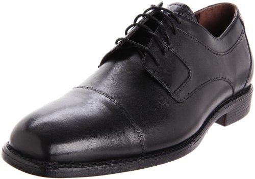 Johnston & Murphy Men's Suffolk Oxford,Black Full Grain,11 M US