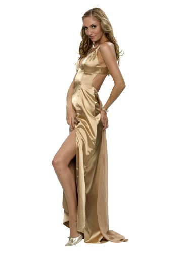 Luxus Abendkleid, Ballkleid, Kleid, Empire Linie, Farbe gold, Gr.38