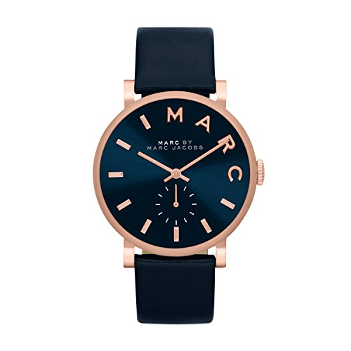 Marc-Jacobs-Womens-Quartz-Watch-with-Blue-Dial-Analogue-Display-and-Blue-Leather-Bangle-MBM1329