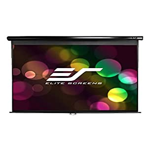 エリートスクリーン プロジェクタースクリーン マニュアル 100インチ(16:9) マックスホワイト素材 ブラックケース M100UWH
