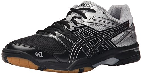 Asics Men's Gel-Rocket 7 Indoor Court Shoe, Black/Silver, 9 M US