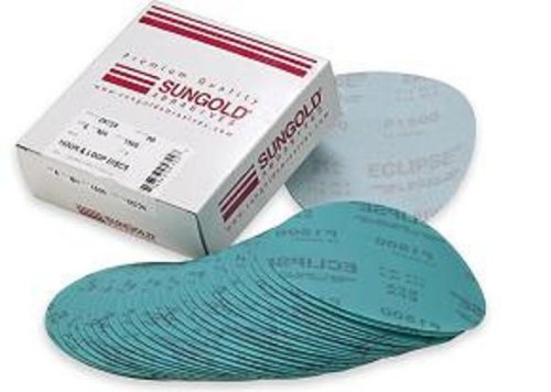 Sungold Abrasives 74583 5-Inch x No Hole Eclipse Film Hook and Loop Discs 5 Each of 800, 1200, 1500 and 2000 Assorted Fine Grits, 20-Piece