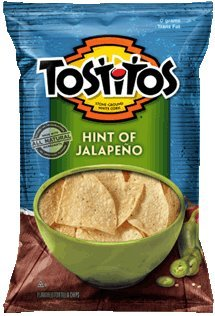 Tostitos Restaurant Style with a Hint of Jalapeño Tortilla Chips, 13oz Bags (Pack of 5)
