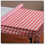 "Hoffmaster 114001 Plastic Tablecover Roll, 300' Length x 40"" Width, Red Gingham"