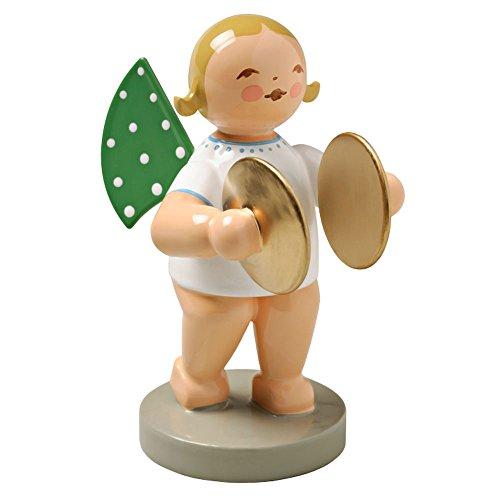 Wendt & Kuhn Blonde Hand Painted Grunhainichen Angel Cymbals Figurine