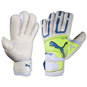 Puma PowerCat 1.12 Protect Soccer Goalie Glove, White, 8