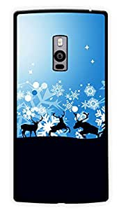 """Humor Gang Reindeers Printed Designer Mobile Back Cover For """"OnePlus Two"""" (2D, Glossy, Premium Quality Snap On Case)"""