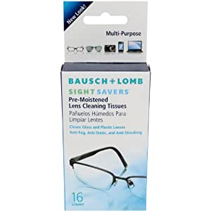 Bausch & Lomb Sight Savers Pre-Moistened Lens Cleaning Tissues, 16-Count Tissues (Pack of 12)
