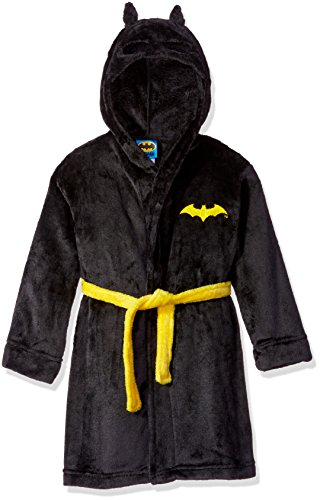 DC Comics Toddler Boys' Batman Hooded Robe, Black, 2T