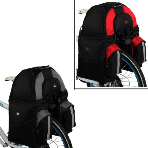 NEW Multi-function Cycling Bicycle Bag Bike Rear Seat Bag 2-in-1 Pannier Pattern / Multicolor 60 L