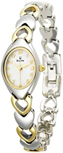 Bulova Women's 98V02 White Patterned Bracelet Watch from Bulova