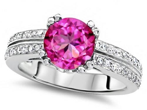 Pink Sapphire Wedding Rings
