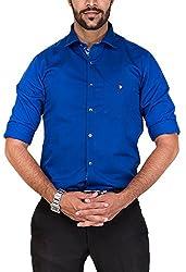 Botticelli Men's Blue Plain Full Sleeve Shirt (3593-FULL-B-M_Blue_Medium)