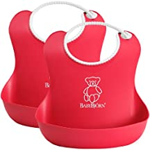 BabyBjorn Soft Bib 2 Pack - Red/Red