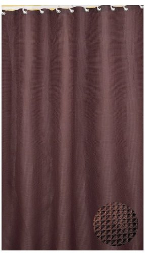 carnation home fashions waffle weave fabric shower curtain