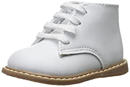 Baby Deer High Top Leather First Walker (Infant/Toddler),White,2 M US Infant
