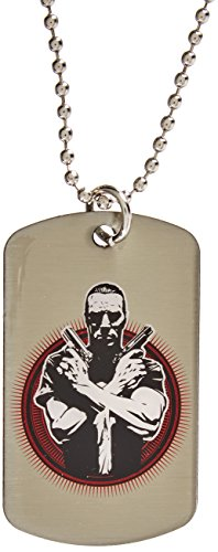 "Jewel M Punisher ""Crossed Guns"" Dog Tag"