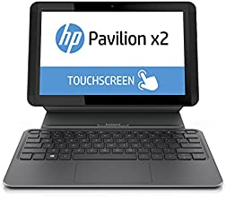 """HP Pavilion x2 10-k098nf PC portable 2-en-1 tactile 10,1"""" Noir (Intel Atom, 2 Go de RAM, SSD 32 Go, Mise à jour Windows 10 gratuite)"""