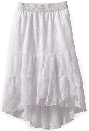 My Michelle Girls 7-16 Three Layer Skirt, White, Medium