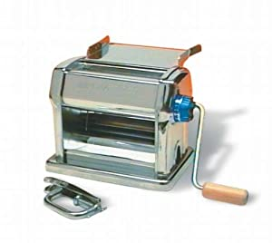 Imperia Restaurant Manual Pasta Machine with Handle, Clamp and Tray by Imperia