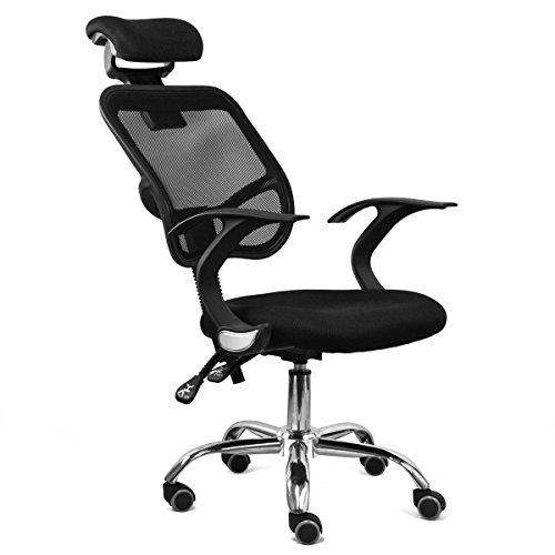 Bandscheiben-Drehstuhl-Acelectronic-Brostuhl-mit-Kopfsttze-Gaming-StuhlSchreibtischstuhl-Chefsessel-mit-Armlehnen-Gaming-chair-Gestell-Nylon-Netzrcken-Stoffbezug