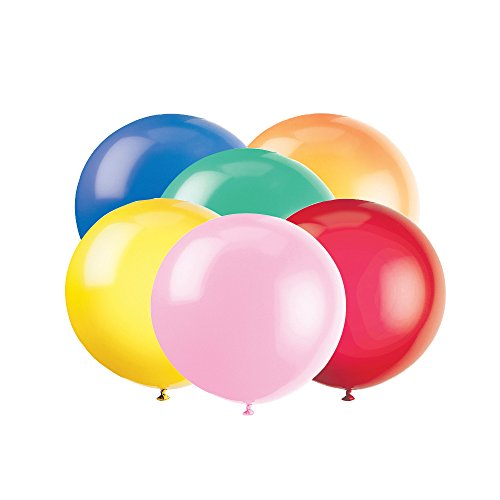 "36"" Giant Latex Assorted Color Balloons, 6ct"