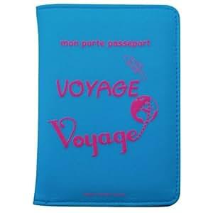 Caroline Lisfranc - Porte-passeport voyage-VOYAGE POP Bleu