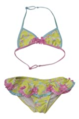 Kate Mack Girl's 7-16 Water Sprite Swimsuit in Lime