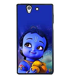 printtech Lord Krishna Cartoon Small Back Case Cover for Sony Xperia Z , Sony Xperia Z L36h