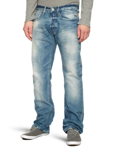 Replay Billstrong Straight Men's Jeans Dark Blue Light Rinse 28W x 32L