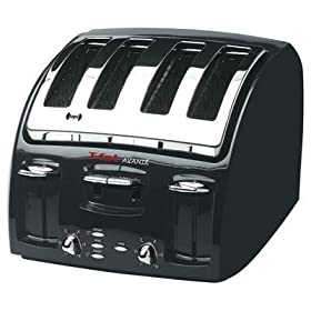 New T-Fal/Wearever T-Fal Avante Classic 4-Slice Toaster With Black Finish & Chrome Accents