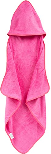 Rayon from Bamboo & Cotton Hooded Infant Towel, 30 by 30-Inch, Baby Pink