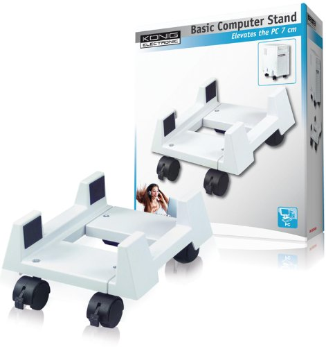 KOENIG PC Stand with Wheels Mobile Secure Computer Rack