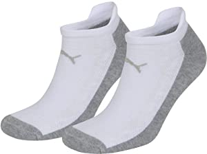 Puma Sprint Technical Coolmax Sneaker Sock 2 Pk - White/Grey, EU 035-038