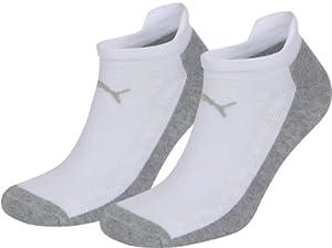 Puma Sprint Technical Coolmax Sneaker Sock 2 Pk - White/Grey, EU 039-042 (Old Version)