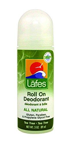 Lafes Roll-On Deodorant Tea Tree, 3 Ounce