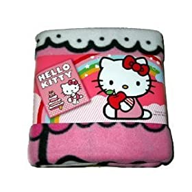 Sanrio Hello Kitty Birthday Cake Plush Throw Pink Large Fleece Bed Blanket