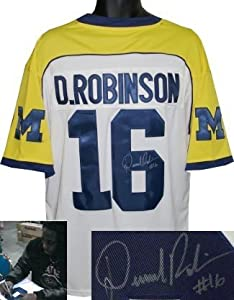 Denard Robinson signed Michigan Wolverines White Adidas Jersey