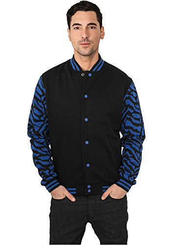Urban Classics 2-Tone Zebra College Jacket Giacca Uomo Regular Fit Royal Black